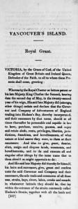 1849 royal grant