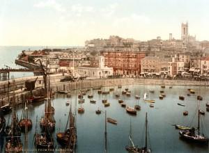 Margate harbour ca 1897 lo