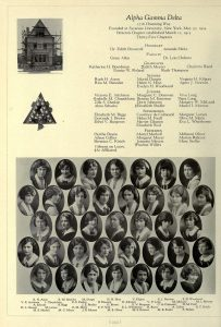 1924 sorority pix A J Newton